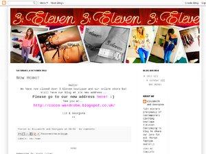3:Eleven Boutique website