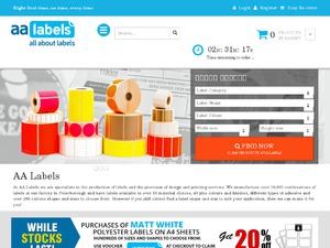 AA Labels website