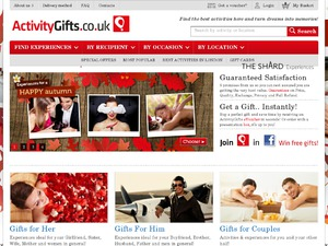 Activity Gifts website