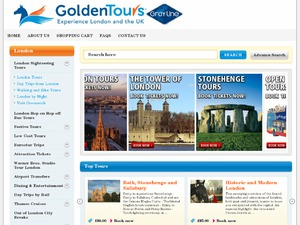 Golden Tours website