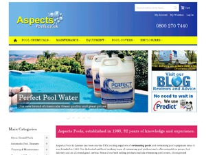 Aspects Pools and Spas website