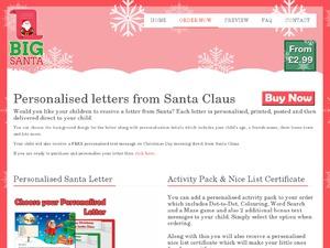 Big Santa Letter website