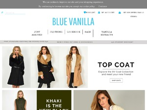 Blue Vanilla website