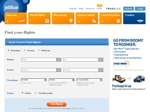 Jet Blue website