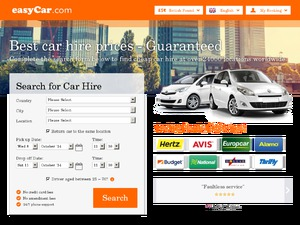 EasyCar website