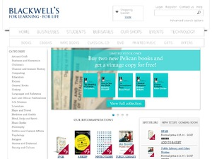 Blackwell Books website