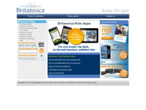 Encyclopedia Britannica website