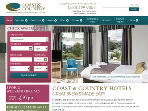 Coast and Country Hotels website