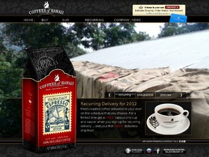 Coffees of Hawaii website