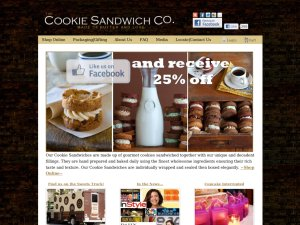 Cookie Sandwich Co. website