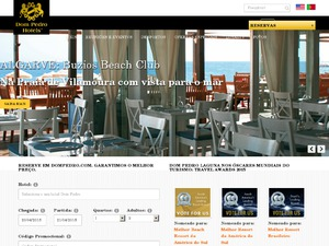 Dom Pedro Hotels website