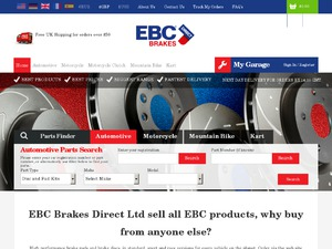 EBC Brakes Direct website