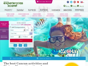 Experiencias Xcaret website