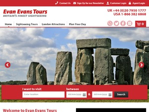 Evan Evans Tours website