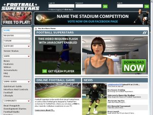 Football Superstars website