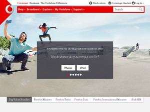 Vodafone website