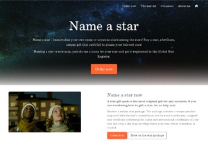 Global Star Registry website