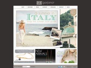 Gorjana Jewelry website