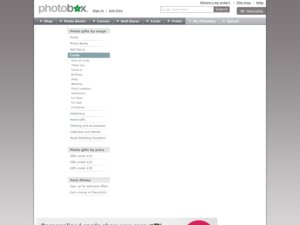 Greetings by PhotoBox website