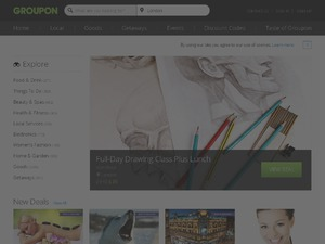 Groupon UK website