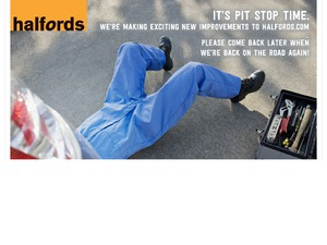 Halfords website