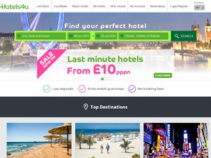 Hotels4U website