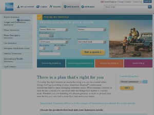 American Express Insurance website