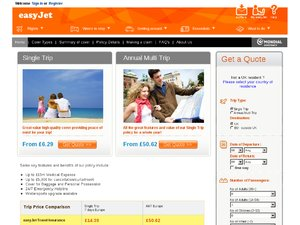easyjet4insurance website