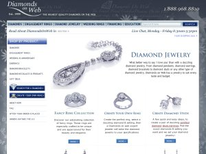 Diamonds On Web website