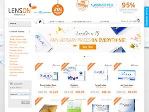 Lenson UK website