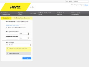 Hertz website