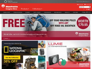 Manfrotto UK website