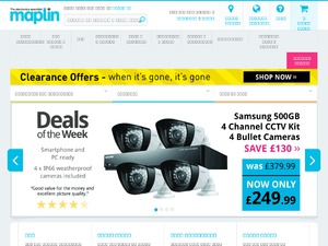 Maplin Electronics website