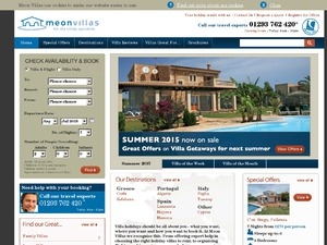 Meon Villas website