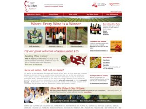 My Wines Direct website