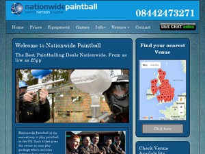 Nationwide Paintball website