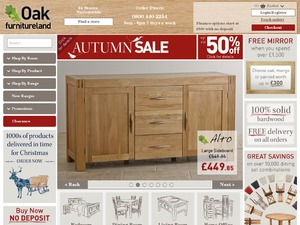 Oak Furniture Land website
