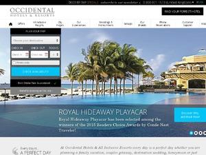 Occidental Hotels website