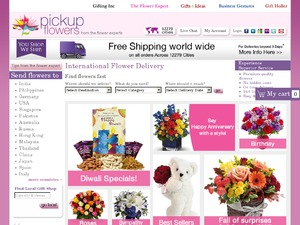 Pickup Flowers website