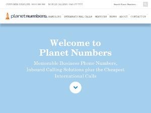 Planet Numbers website