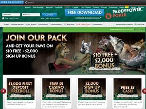 Paddy Power Poker website