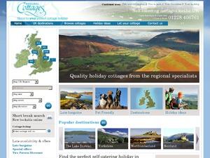 Regional Cottages website