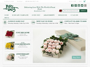 Roses Only website