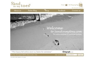 Sand in my toes website