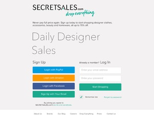 Secret Sales website