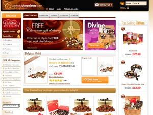 Serenata Chocolates website