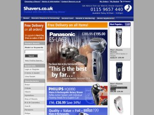 Shavers.co.uk website