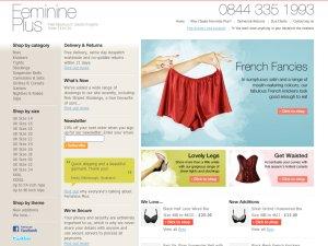 Feminine Plus website