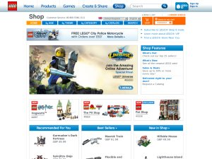 Lego website