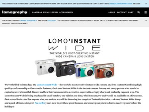 Lomography website